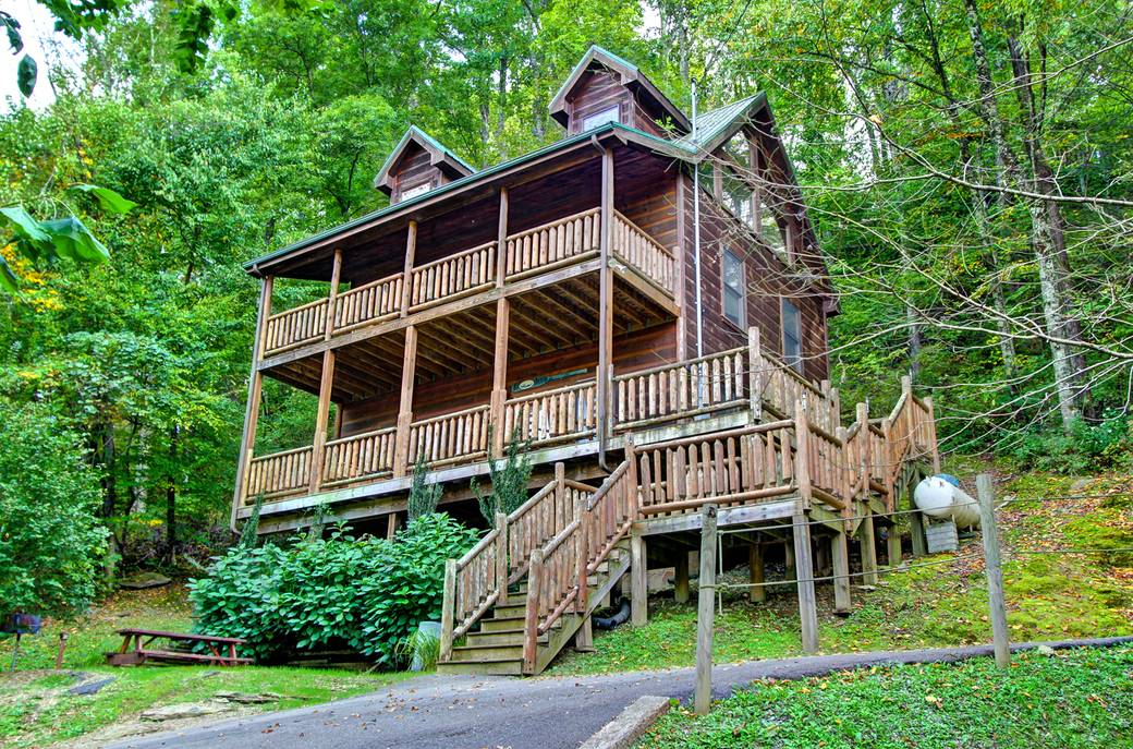 EXTERIOR at CABIN OF DREAMS in Sevier County TN