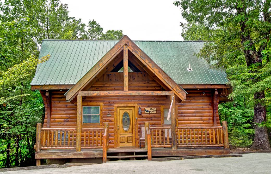 Almost paradise 1 bedroom cabin rental in sevierville tn - 3 bedroom cabins in gatlinburg tn cheap ...