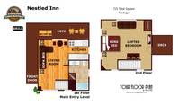 UNIT LAYOUT at NESTLED INN in Sevier County TN