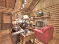 LIVING AREA at KATHYS KABIN in Sevier County TN