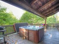HOT TUB at KATHYS KABIN in Sevier County TN