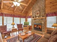LIVING AREA at SNUGGLED IN in Sevier County TN