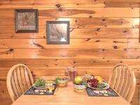 DINING TABLE at SNUGGLED IN in Sevier County TN