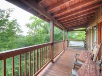 BACK DECK at SNUGGLED IN in Sevier County TN