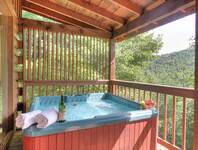 HOT TUB at SNUGGLED IN in Sevier County TN
