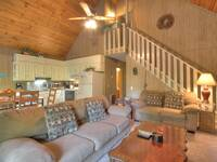 LIVING AREA at A PIECE OF PARADISE in Gatlinburg TN