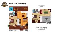UNIT LAYOUT at BEAR CUB HIDEAWAY in Sevier County TN