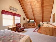 BEDROOM 1 (UPSTAIRS) at GRAY WOLF in Sevier County TN