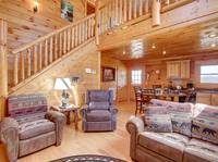 LIVING AREA at BEAR CUB HIDEAWAY in Sevier County TN