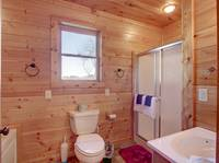BATHROOM W/ JACUZZI TUB (UPSTAIRS) at BEAR CUB HIDEAWAY in Sevier County TN