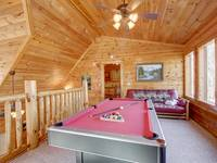 POOL TABLE at BEAR CUB HIDEAWAY in Sevier County TN