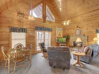 LIVING AREA at FLAMING ARROW in Sevier County TN
