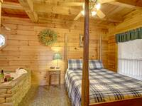 BEDROOM 1 (MAIN LEVEL) at FLAMING ARROW in Sevier County TN