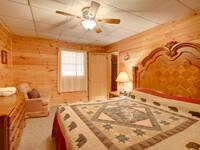 BEDROOM 2 (MAIN LEVEL) at HEATHERS HIDEAWAY in Sevier County TN