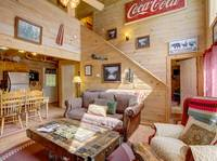 LIVING AREA at BLACK BEAR HOLLER in Gatlinburg TN