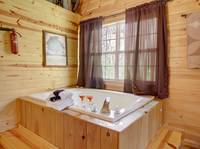 JACUZZI (MASTER BEDROOM UPSTAIRS) at BLACK BEAR HOLLER in Gatlinburg TN