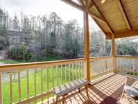 DECK (MASTER BEDROOM) at BLACK BEAR HOLLER in Gatlinburg TN