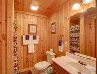 BATHROOM (LOWER LEVEL) at HOME SWEET HOME in Sevier County TN