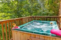 HOT TUB at HOME SWEET HOME in Sevier County TN