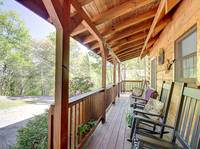FRONT DECK at HOME SWEET HOME in Sevier County TN