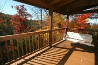SWING  (FALL) at SNUGGLED IN in Sevier County TN