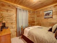 BEDROOM 2 (MAIN LEVEL) at MISS BEE HAVEN in Sevier County TN