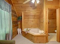 JACUZZI & HALF BATH (UPSTAIRS) at MISS BEE HAVEN in Sevier County TN