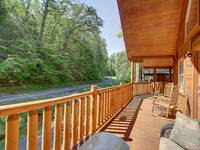 FRONT DECK at MISS BEE HAVEN in Sevier County TN