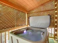 HOT TUB at MISS BEE HAVEN in Sevier County TN