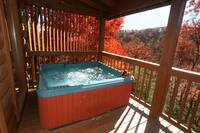 HOT TUB (FALL) at SNUGGLED IN in Sevier County TN