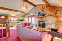 LIVING AREA at ABOVE THE TREE TOPS in Pigeon Forge TN