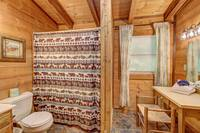 FULL BATHROOM (UPSTAIRS) at AMBERWOOD in Sevier County TN