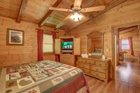 BEDROOM 2 (UPSTAIRS) at AMBERWOOD in Sevier County TN