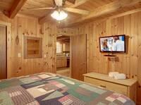 BEDROOM 1 (MAIN LEVEL) at HIDDEN TREASURES in Sevier County TN