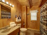 FULL BATHROOM 2 (UPSTAIRS) at HIDDEN TREASURES in Sevier County TN