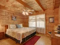 BEDROOM (KING / MAIN LEVEL) at MISTY MORNING in Sevier County TN