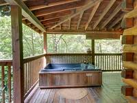 HOT TUB at HILLSIDE HAVEN in Sevier County TN