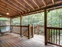 FRONT DECK at HILLSIDE HAVEN in Sevier County TN