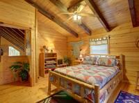 LOFT BEDROOM at MEDICINE MAN in Sevier County TN
