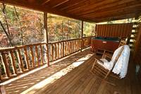 DECK WITH HOT TUBS at AUTUMN BREEZE in Sevier County TN