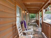 FRONT DECK (ROCKERS & SWING) at SIMPLE COMFORTS in Sevier County TN