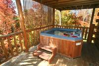 HOT TUB at AUTUMN LEAVES in Sevier County TN