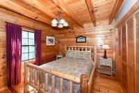 BEDROOM 2 (MAIN LEVEL) at KANGAROO HUT in Gatlinburg TN