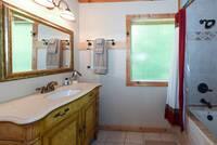 BATHROOM at KANGAROO HUT in Gatlinburg TN