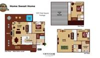 UNIT LAYOUT at HOME SWEET HOME in Sevier County TN