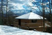 WINTER EXTERIOR  at XPERFECT POINTE OF VIEW in Sevier County TN