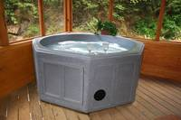 HOT TUB ON SCREENED DECK at A PLAYERS PARADISE in Sevier County TN