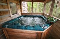 HOT TUB at MULBERRY PLACE in Sevier County TN