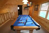 POOL TABLE at BEARWAY TO HEAVEN in Sevier County TN