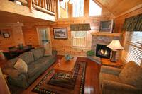 LIVING AREA at BEARWAY TO HEAVEN in Sevier County TN